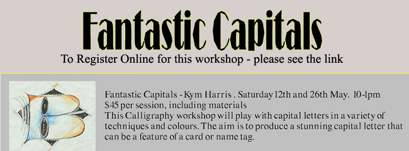 EMU PARK ART GALLERY WORKSHOP - Fantastic Capitals - Kym Harris