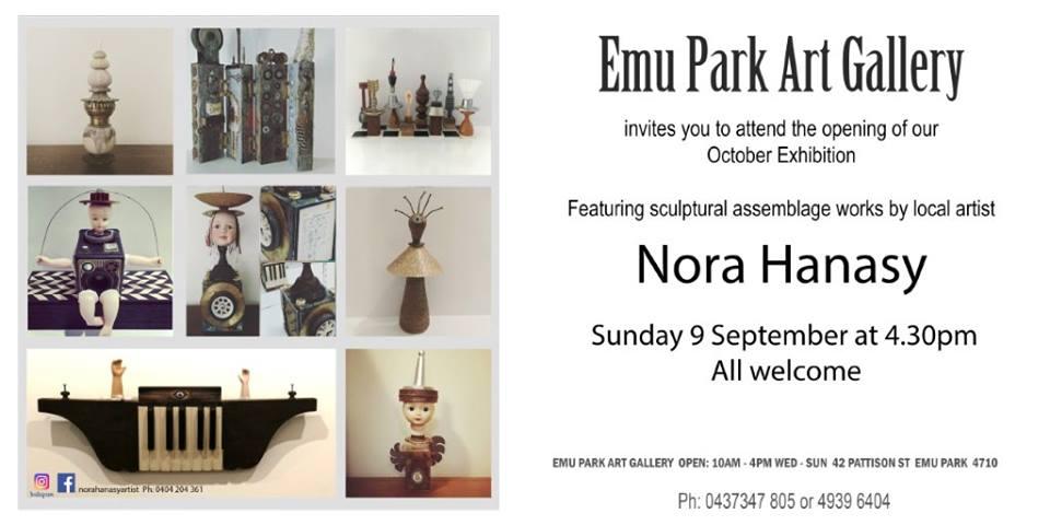 Featured artist Nora Hanasy at the Emu Park Art Gallery Spring Exhibition