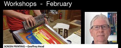 Screen printing workshop - emu park art gallery - geoffrey head